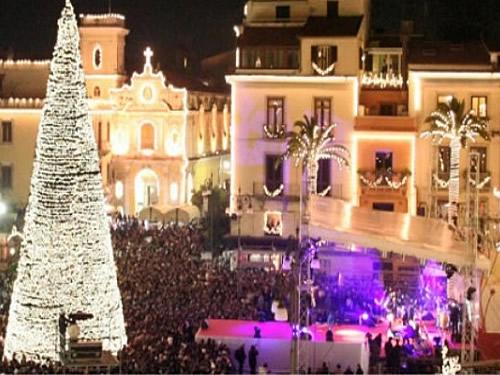 capodanno sorrento in piazza in centro storico foto